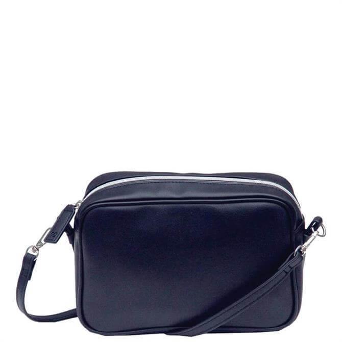 Caroline Gardner Navy Vegan Leather Camera Bag