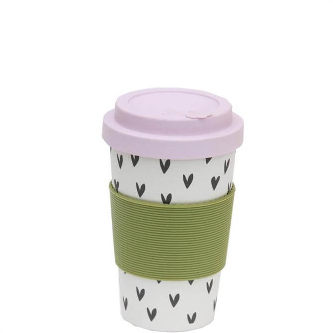 Caroline Gardner Scattered Hearts Eco Bamboo Coffee Cup
