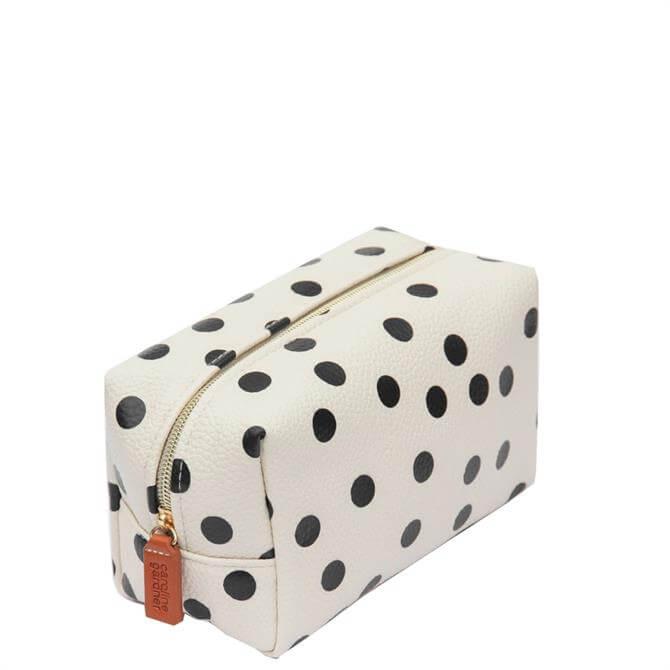Caroline Gardner Scattered Spot Cube Cosmetic Bag