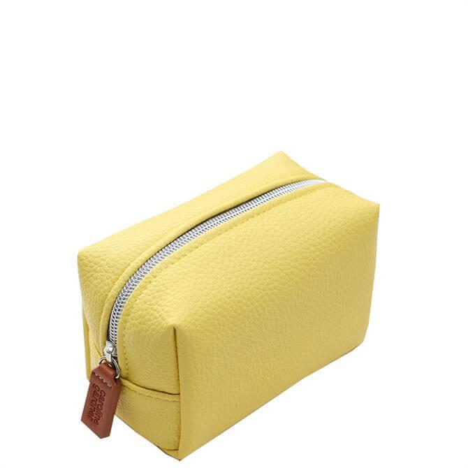 Caroline Gardner Yellow Mini Cube Cosmetic Bag