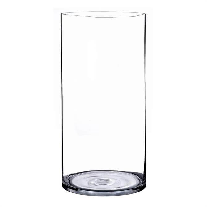 Cylinder Clear Glass Vase