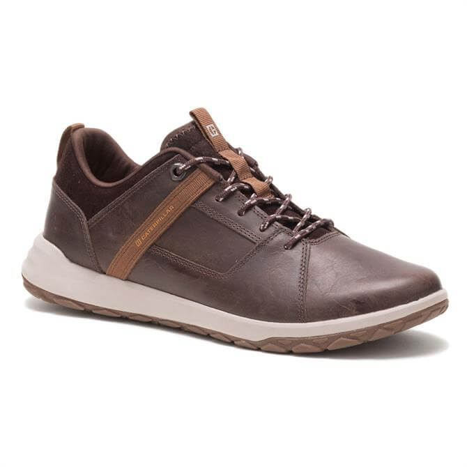 CAT Footwear Quest Mod Brown Leather Trainers