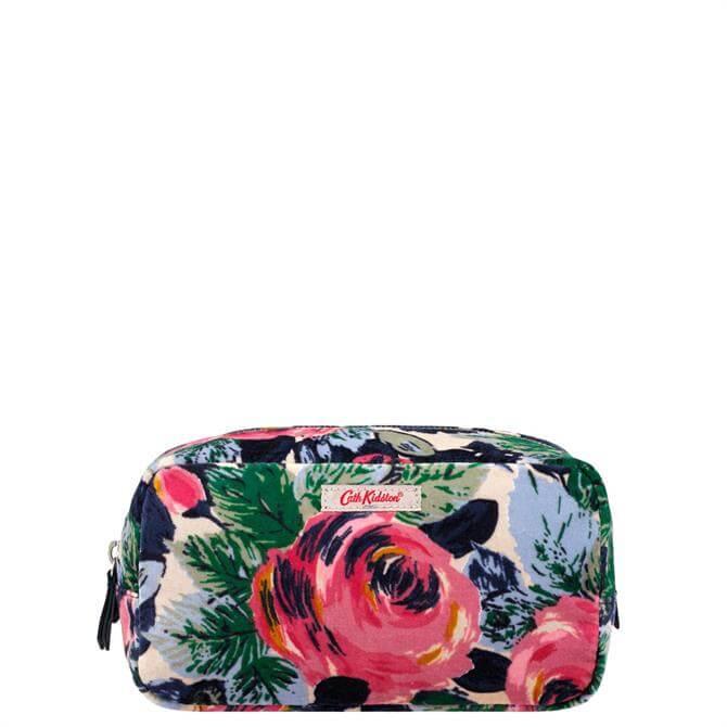 Cath Kidston Oxford Rose Printed Velvet Make Up Bag