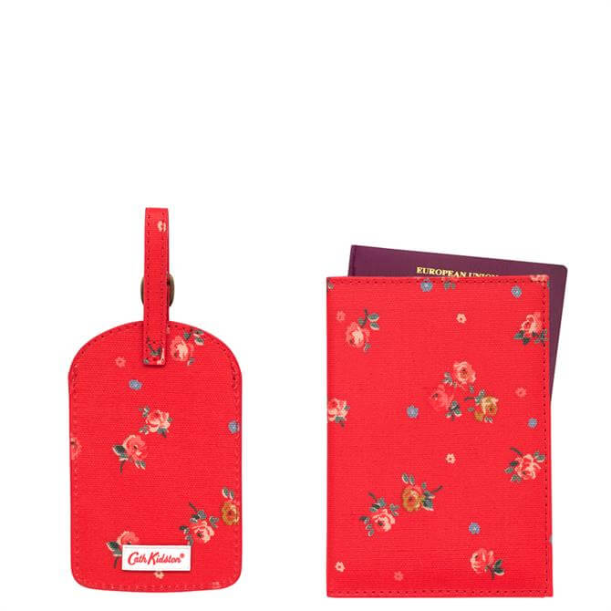 Cath Kidston Wimbourne Ditsy Red Travel Set