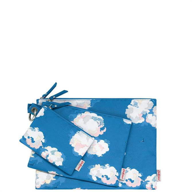 Cath Kidston Clouds Set of 3 Pouches