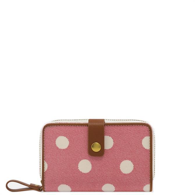 Cath Kidston Button Spot Red Zip Wallet