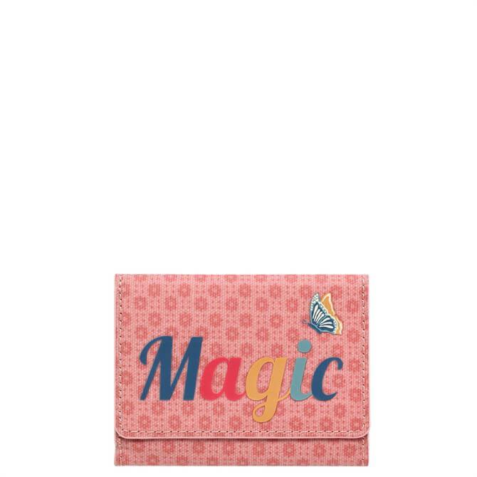 Cath Kidston Shadow Flowers Magic Pink Ticket Holder
