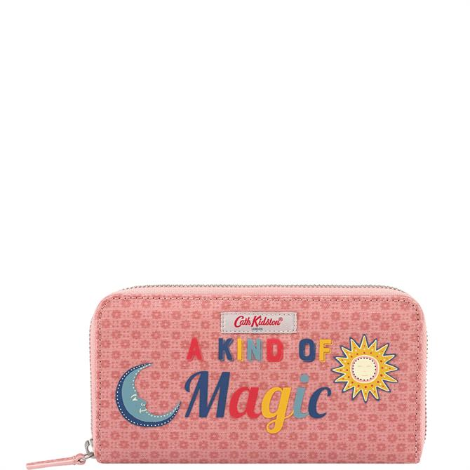 Cath Kidston Shadow Flowers Pink Continental Wallet