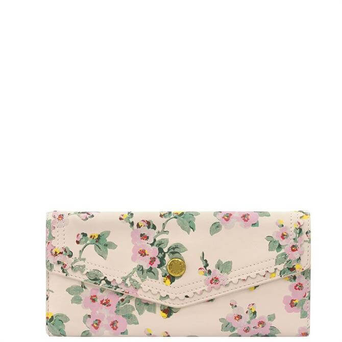 Cath Kidston Mayfield Blossom Large Leather Envelope Wallet