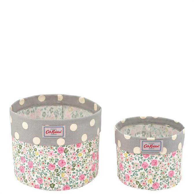 Cath Kidston Hedge Rose Set of Two Storage Baskets