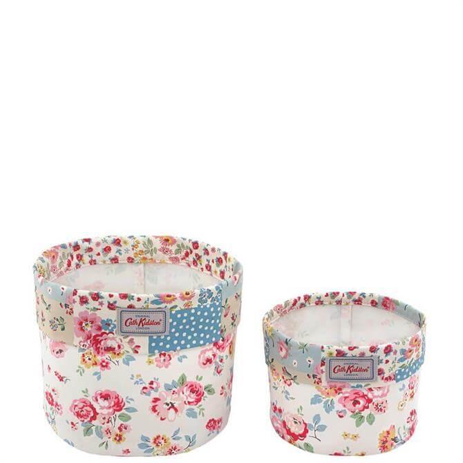 Cath Kidston Wells Rose Set of Two Storage Baskets
