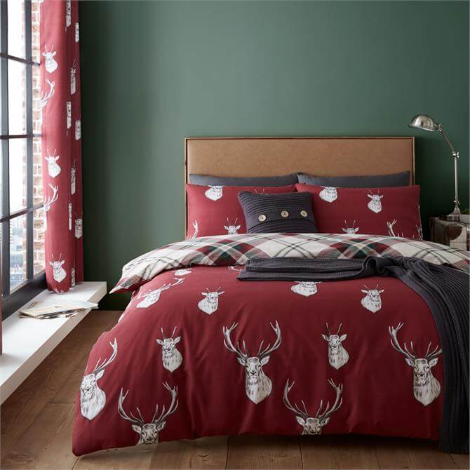 Catherine Lansfield Munro Stag Duvet Cover Set
