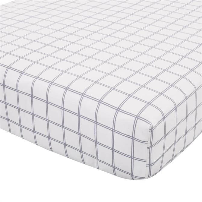 Catherine Lansfield Brushed Cotton Navy Tartan Duvet Fitted Sheet