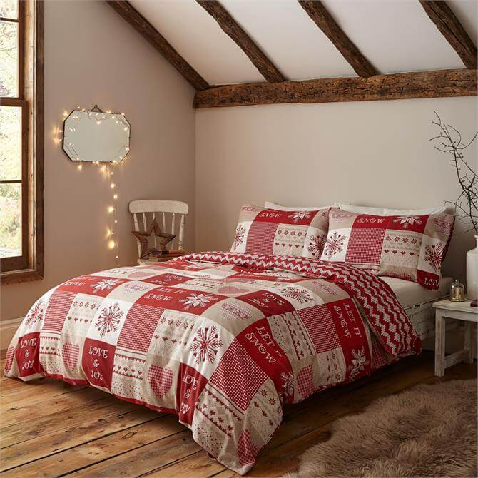 Catherine Lansfield Let it Snow Duvet Cover Set