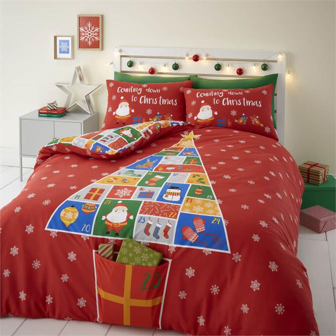 Catherine Lansfield Count Down to Christmas Duvet Cover Set