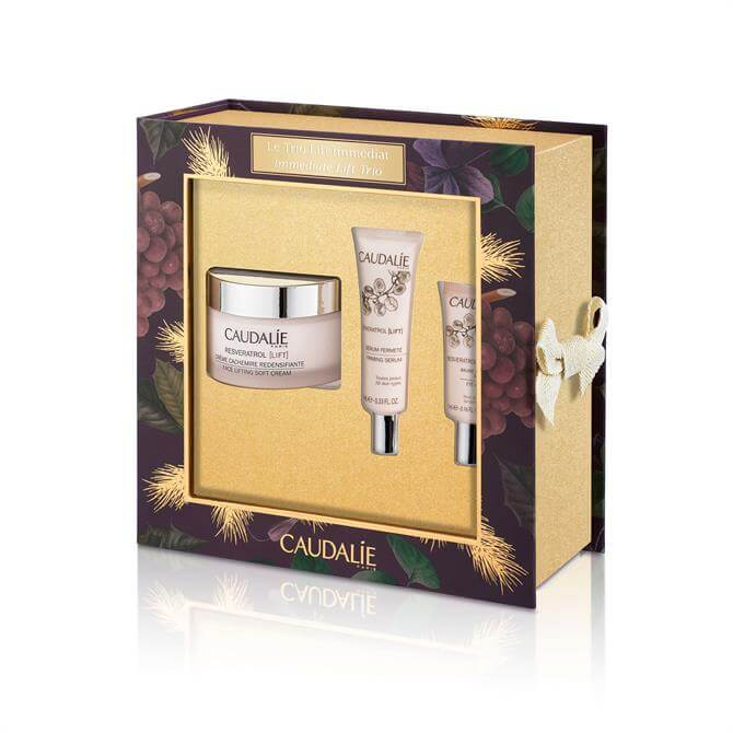 Caudalie Resveratrol Lift Face Lifting Experts- Serum + Face Cream + Balm Gift Set
