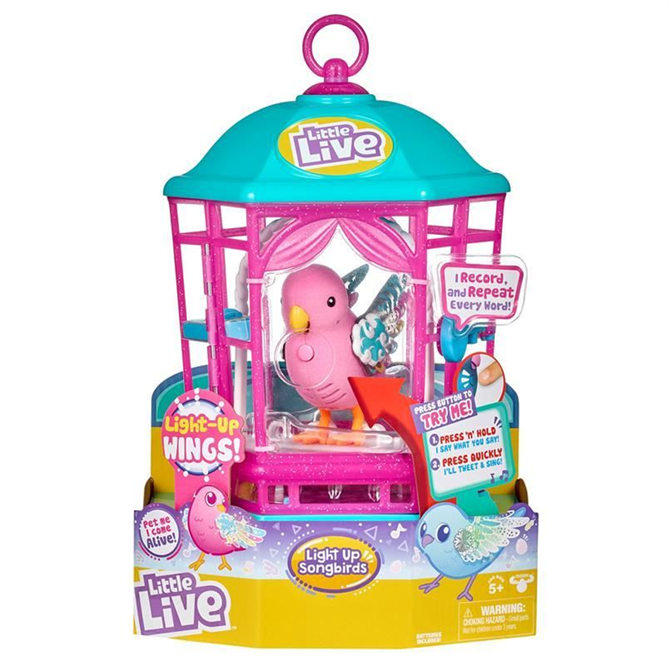 Little Live - Light Up Songbirds Cage - Rainbow Glow