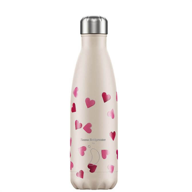 Chilly's Emma Bridgewater Pink Hearts 500ml Bottle