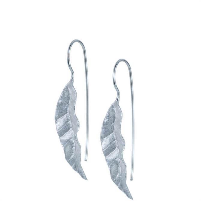 Christin Ranger Banana Leaf Sterling Silver Earrings