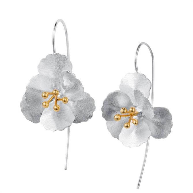 Christin Ranger Cherry Blossom Silver & Gold Earrings