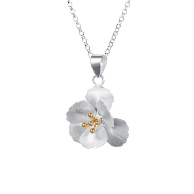 Christin Ranger Cherry Blossom Silver Pendant