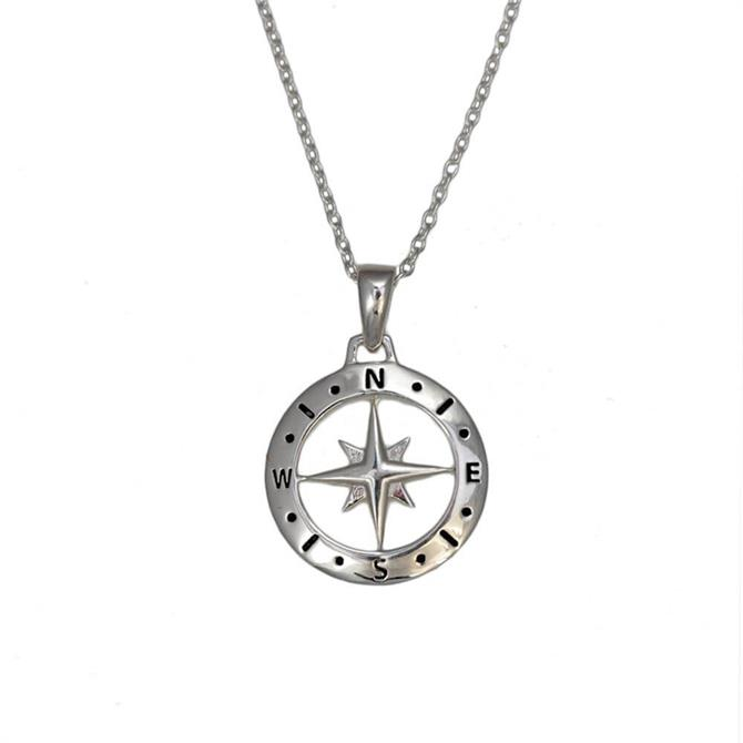 Christin Ranger Love's Compass Silver Necklace