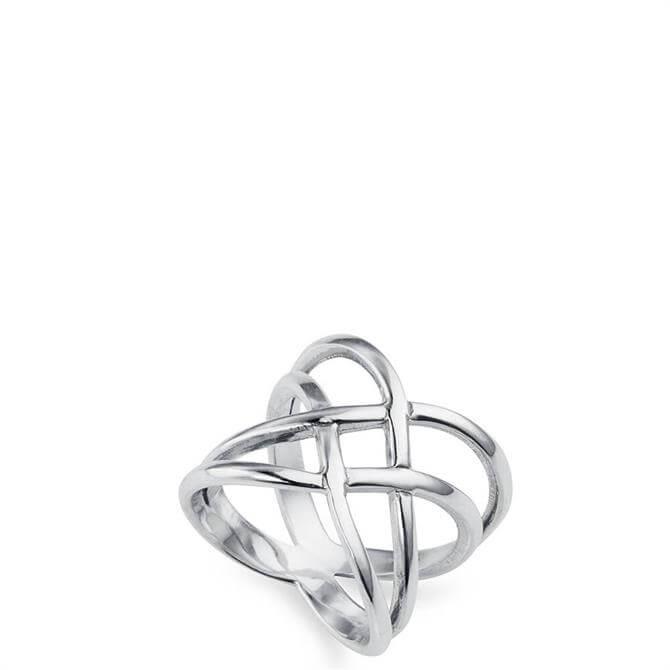 Christin Ranger Cross Over Silver Ring