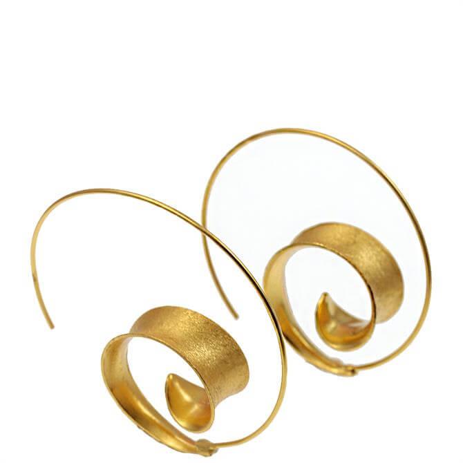 Christin Ranger Curl Hoop Earrings