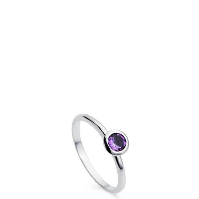 Christin Ranger Gem Drop Amethyst Silver Ring