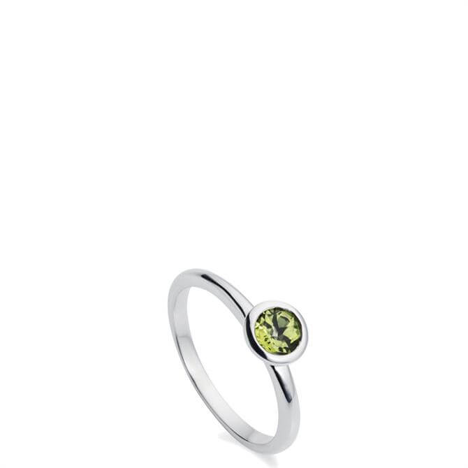 Christin Ranger Gem Drop Peridot Silver Ring