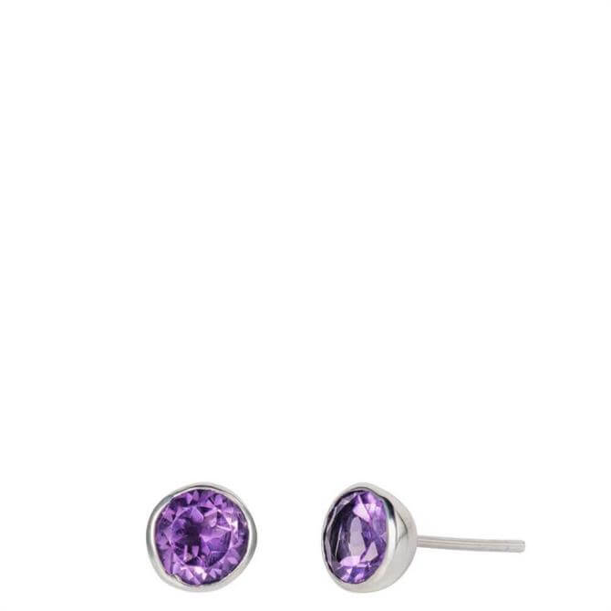 Christin Ranger Gem Drop Amethyst Topaz Stud Earrings