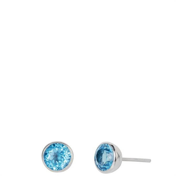 Christin Ranger Gem Drop Blue Topaz Stud Earrings
