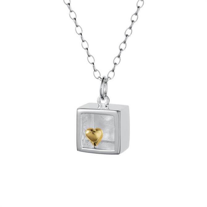 Christin Ranger Heart of Gold Silver Pendant