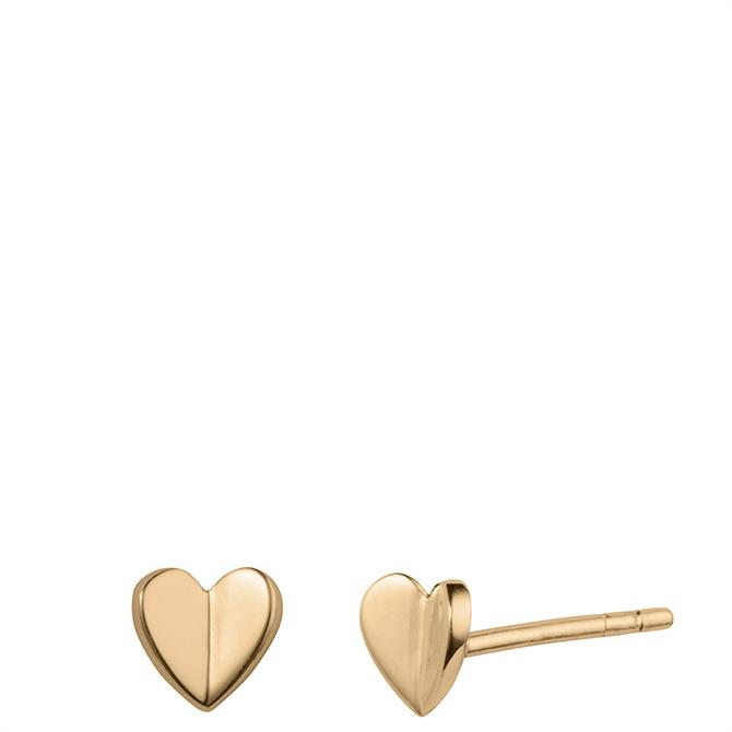 Christin Ranger Fluttering Heart Stud Earrings