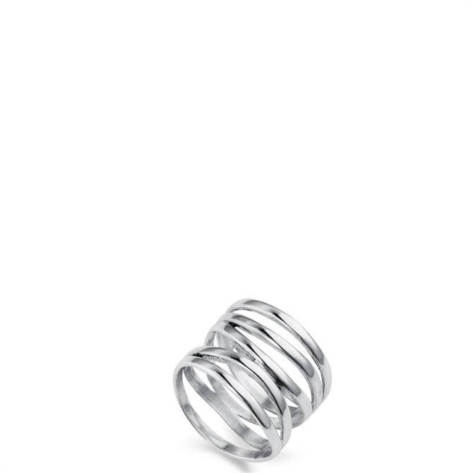 Christin Ranger High Wrap Silver Ring