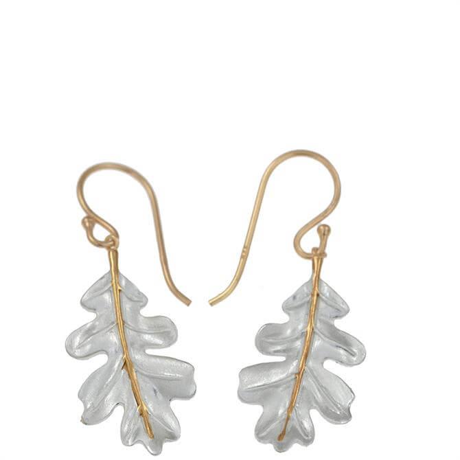 Christin Ranger Oak Leaf Silver & Gold Earring