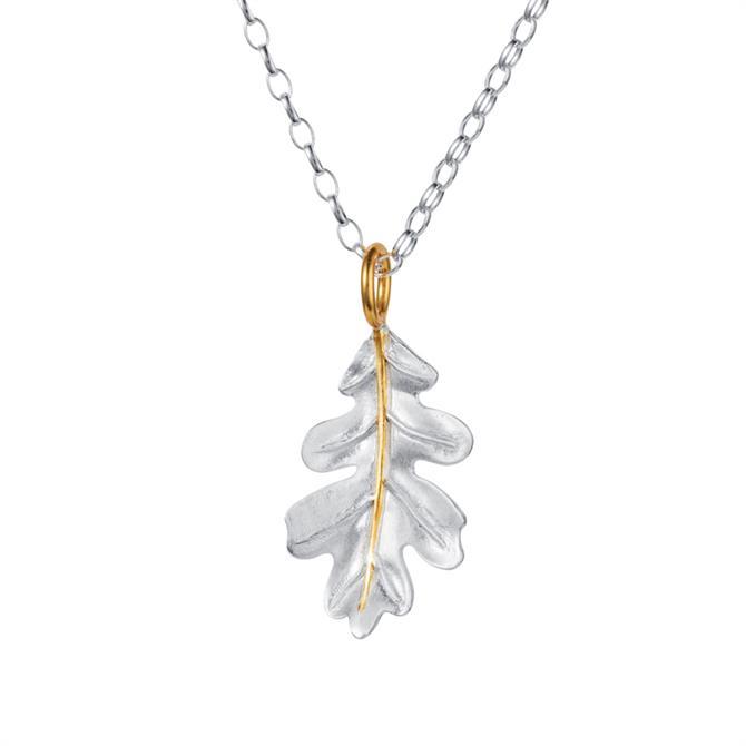Christin Ranger Oak Leaf Silver & Gold Pendant