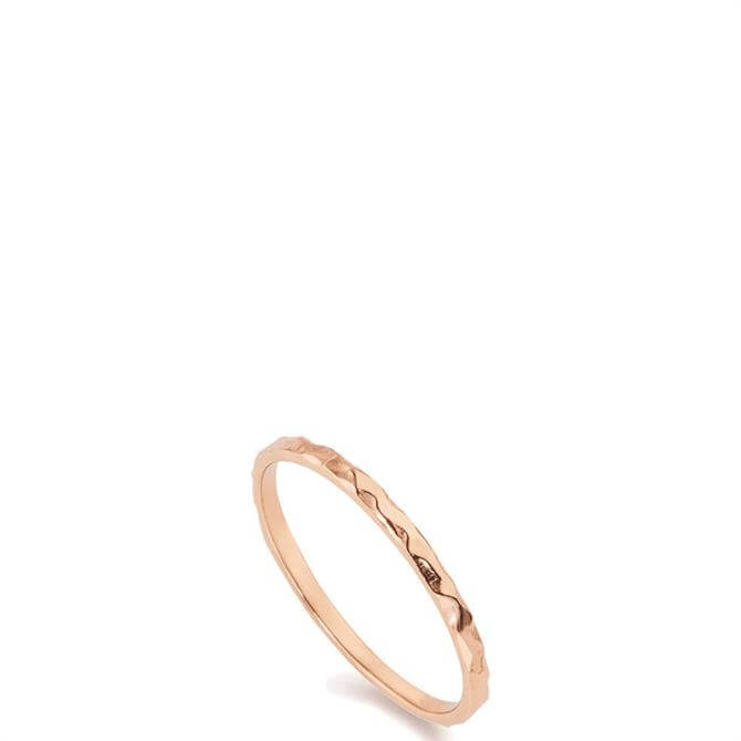 Christin Ranger Tiny Hammered Rose Gold Band