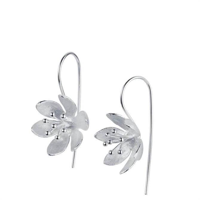 Christin Ranger Water Lilly Silver Earrings