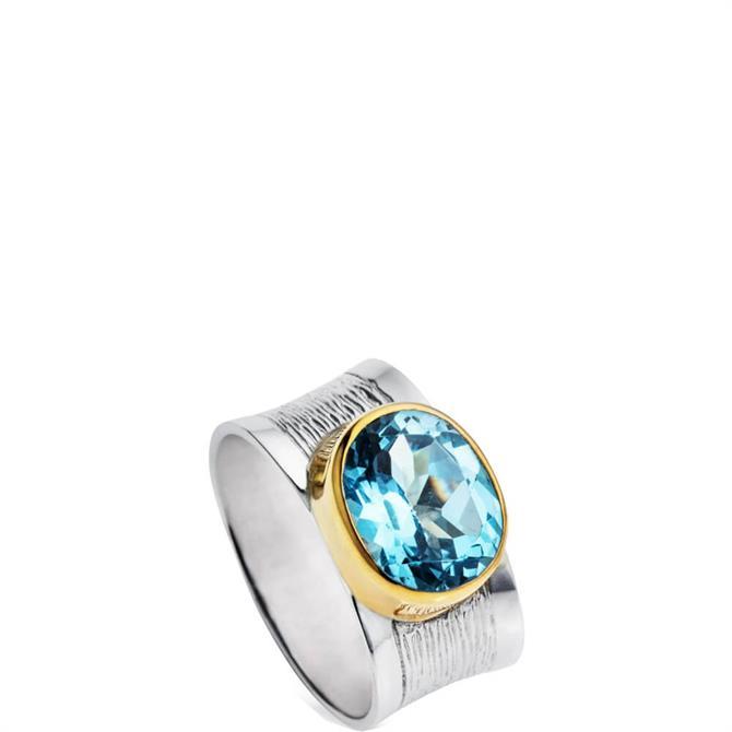 Christin Ranger Silver & Blue Topaz Riviera Ring