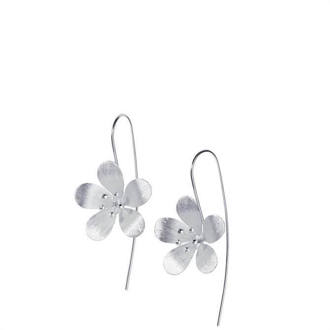 Christin Ranger Blossom Drop Silver Earrings
