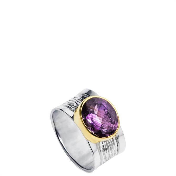 Christin Ranger Silver and Amethyst Ring