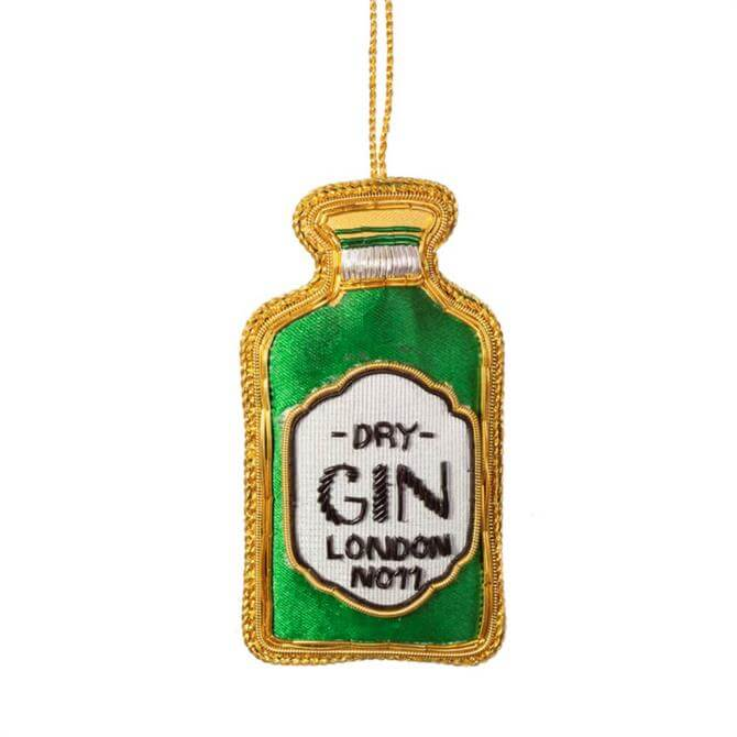 Sass & Belle Gin Bottle Zari Embroidery Decoration