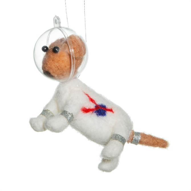 Sass & Belle Outer Space Dog Hanging Decoration