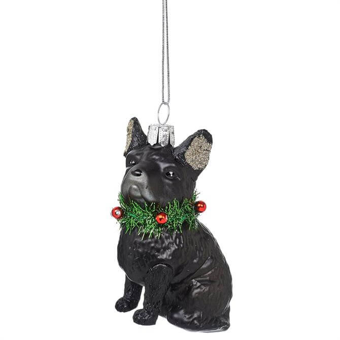 Sass & Belle Festive French Bulldog Shaped Bauble