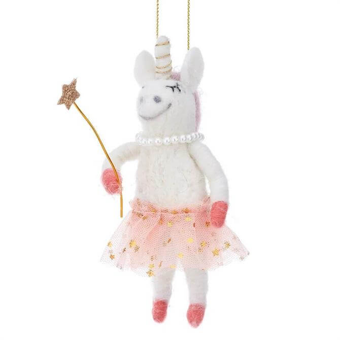 Sass & Belle Fairy Unicorn Felt Hanging Decoration