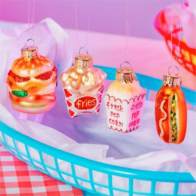Sass & Belle Mini Fun Fast Food Shaped Baubles