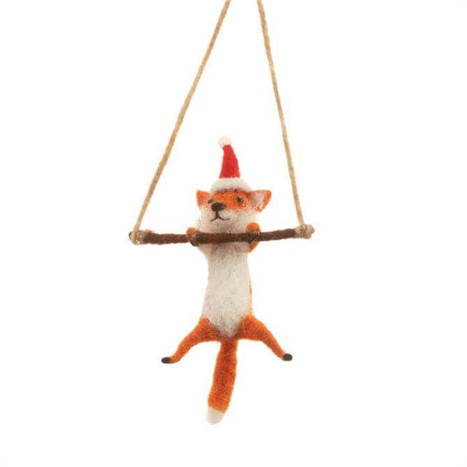 Sass & Belle Festive Fox Hanging Decoration