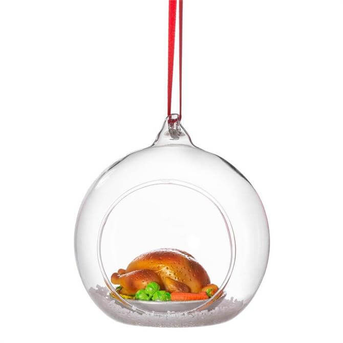 Sass & Belle Roast Dinner Figurine Bauble