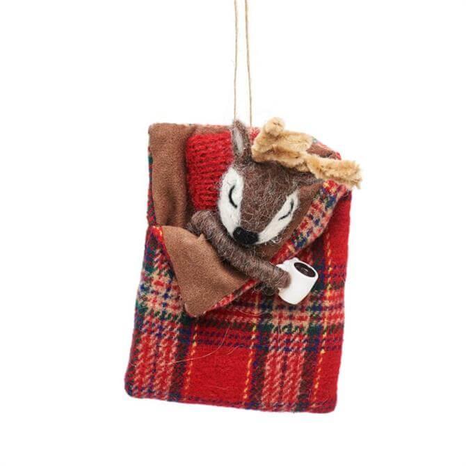 Sass & Belle Deer in Sleeping Bag Decoration